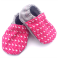 Pink Flamingo Print Baby Shoes