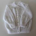 White babies cardigan