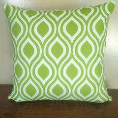 Retro Lime Green & White Teardrop Cushion Cover  - 45cm - Retro Cushions