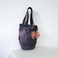 Felted Bag Flower Medium Handbag