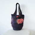 Felted Bag Flower Medium Handbag