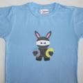 Easter Ninja Bunny original design printed T-Shirt SKY Size 6