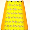 Zebras & yellow A line skirt