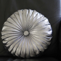 Vintage Style Silver Denim round cushion