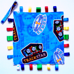 THOMAS THE TANK ~ TRACKSTAR~ Baby Security Blanket Blankie Taggie Toy (LAST ONE)