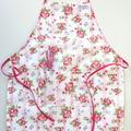 Kids Waterproof Pink Floral Ajustable Apron