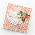 Thinking Of You card vintage heart pink get well soon sympathy