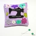 Lavender Keep Calm Sewing Machine Pin Cushion