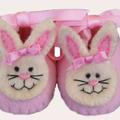 Custom Boutique Pink Bunny Booties