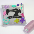 Grey Keep Calm Sewing Machine Pin Cushion Ready to post