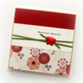 Birthday card for her oriental red handmade