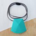 Silicone Teething Necklace - Lge Faceted Bead - BPA FREE, Nursing, Breastfeeding