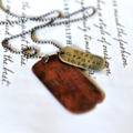 New Dad Gift, Hand Stamped Dog Tags, Rustic Mens Jewellery