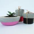 Trio - Large Succulent Planter PLUS Two Tealight Holders - Urban Decor