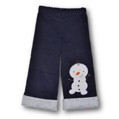 SIZE 2 Navy Corduroy Snowman Pants