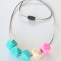 Silicone Teething Necklace - Geo Hex