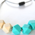 Silicone Teething Necklace - Geometric Design