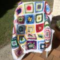 Colourful Crochet Rug Blanket Throw