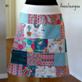 Women's Patchwork A-Line Skirt Size M