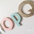 Alphabet Garland (Glitter Gold, Peach, Mint and White)