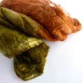 Silk Hankies-Spinning and Felting Crafts - Silk Laps  Olive Cinnamon