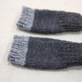 toddler fingerless gloves - charcoal grey / Australian alpaca / 1-3 years