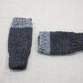 Children's fingerless gloves - charcoal grey / soft merino wool / 4-7 years