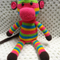 Crocheted Rainbow Monkeys - Girl