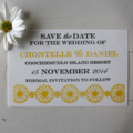 Daisy Chain Letterpress Wedding Invitation