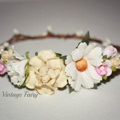 Annabelle flower crown by Vintage Fairy