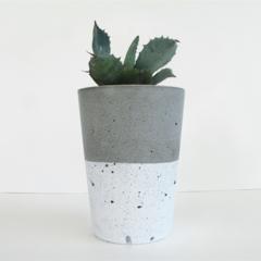 Concrete Upright Tealight Candle Holder / Succulent Planter - Urban Decor