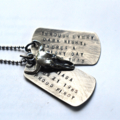 Steer Skull Mens Boys Rustic Dog Tags Necklace Mens Necklace Jewellery For Men