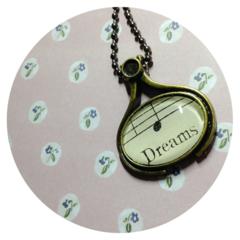 Dreams ~ Vintage sheet music Pendant