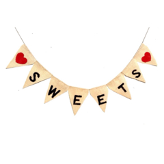 CLOSING DOWN SALE Sweets Candy Bar Lolly Wedding Hessian bunting decoration