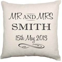 Personalised Couples Wedding or Anniversary Cushion Pillow Cover