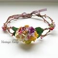 Chelsea Flower crown by Vintage Fairy