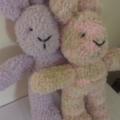 "Snuggletime Easter Bunny - ""Lola and Paula"" softies."