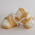Crocheted Little Sport Saddles Booties. Size 0-3 months