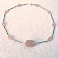 Rose Quartz and Silver Necklace