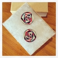 Laser Cut Wooden Rose Illusion Earrings