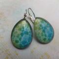 Aqua & Lime Teardrop Earrings