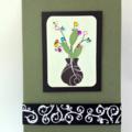 Blank Card - Vase with Gem flowers