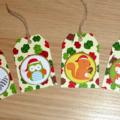 Set 10 Modern Christmas gift tags - cute Christmas woodland animals - handmade
