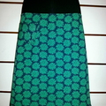 Blue Skirt with Green Daisies & Bamboo Stretch Waist