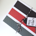 Father's Day Card - Grey, Black and Red Star