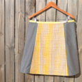 Yellow stripes and grey A line panel skirt