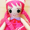 Original handmade ballerina doll pink