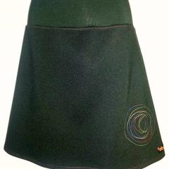 Black Skirt with Spiral & Bamboo Stretch Waist