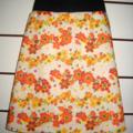 Flowery Skirt in Orange & Yellow with Bamboo Stretch Waist
