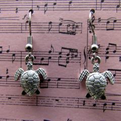 Go slow, like a Turtle Earrings